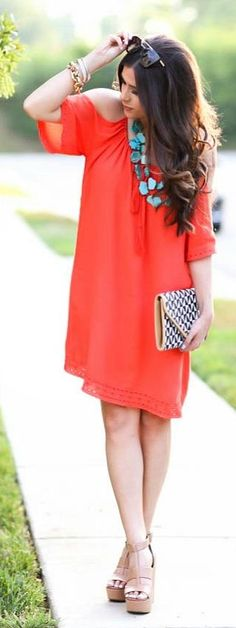 Coral + Turquoise Summer Style by The Sweetest Thing