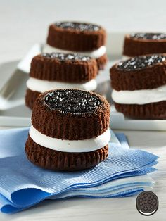 Fill your OREO Cupcakes with creamy whipped topping in the middle, turn it up side down, and voilà!