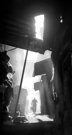 """Hong Kong street"" 1950s, photo by Chinese photographer FAN HO (born 1932)"