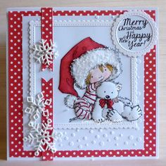 I can confirm making Christmas cards in hot weather doesn't make you cooler even though Mo's Beary Merry Christmas image is soooo cute. Merry Christmas Images, Simple Christmas Cards, Homemade Christmas Cards, Handmade Christmas, Holiday Cards, Christmas Ideas, Christmas Time, Beautiful Handmade Cards, Navidad