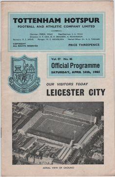 Vintage Football Programme - Tottenham Hotspur v Leicester City, 1964/65 Season | Tottenham Hotspur Football Club