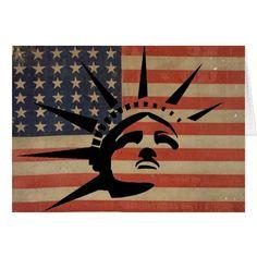 Lady Liberty Card #StatueOfLiberty #Statue #Liberty #Immigrant #Refugee #Fashion #GreetingCard #Card