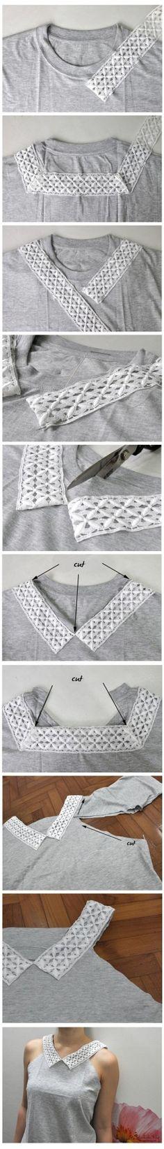 Zo is je vader's tshirt binnen een mum van tijd hip! #AllesVoor #DIY #tshirt # pimpyourshirt