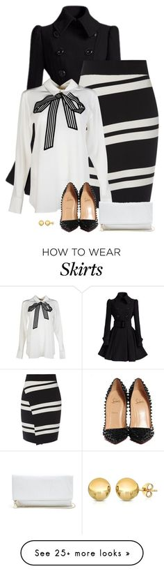 """""""it's snowing!"""" by divacrafts on Polyvore featuring STELLA McCARTNEY, Christian Louboutin, GUESS, Sevil Designs and Original"""