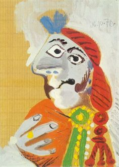 Pablo Picasso. Bust of a matador. 1970 year