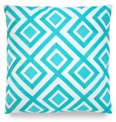 Hollywood Luxe Turquoise Diamond Maze Pillow More Luxury Hollywood Interior Design Inspirations To Pin, Share & Inspire @ InStyle-Decor.com Beverly Hills (Use Our Red Pinterest Speed     Pin Button Top Of Each Page Happy Pinning)