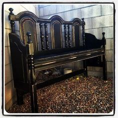 Great Gothic style headboard recycle bench - Big DIY IDeas