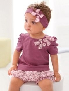 d124ed77c5a61 Kids Children Baby Girl Infant Top+Pant+Headband Set Outfit Clothing in  Clothing