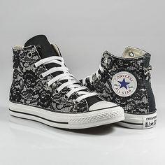 Converse Hi White personalizzate / custom Borchie Glitter Nuove