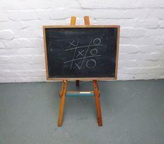 vintage childs blackboard and easel