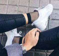 2 Pack Grunge Punk Jeans-mate Mesh Fishnet Ankle Socks – Lupsona