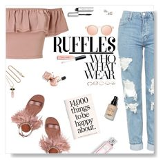 """""""Ruffles"""" by iamthelizardqueen ❤ liked on Polyvore featuring Miss Selfridge, Topshop, Miu Miu, Isabel Marant, Le Specs, Christian Dior, Who What Wear, Bobbi Brown Cosmetics and GUESS"""