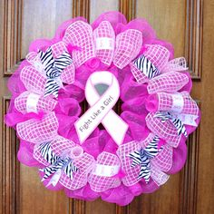 This beautiful Breast Cancer Awareness Wreath is the perfect way to show your support in October for Breast Cancer Awareness Month. It would also make a wonderful gift for someone who has survived breast cancer.