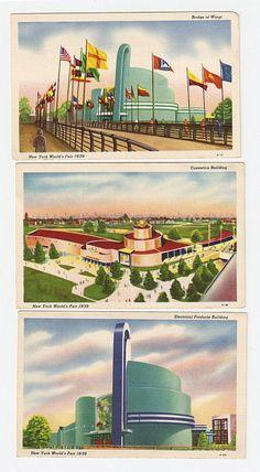 Lot of 3 Postcards 1939 New York World's Fair | eBay