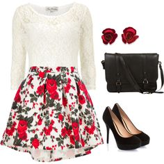 """""""Roses are red"""" by cl-sugar on Polyvore"""