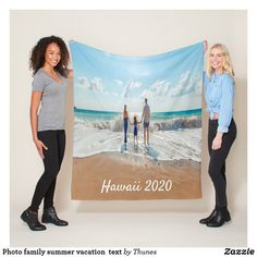 Shop Photo family summer vacation text fleece blanket created by Thunes. Personalize it with photos & text or purchase as is! Summer Gifts, Happy Summer, Summer Of Love, Texas Vacation Spots, Best Family Vacation Spots, Summer Vacation Outfits, Vacation Packing, Vacation Ideas, My Family Photo