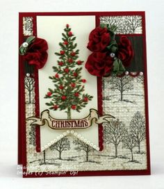 Noël using Lovely As  Tree and/or Thoughtful Branches stamp sets by Stampin' Up