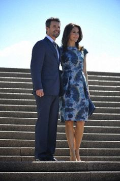 Danish HRH Crown Prince Frederik and HRH Crown Princess Mary attend Sydney Opera House as part of their official visit to Sydney 24-28 Oct 2013.