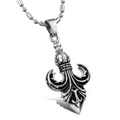 [$8.29]-Royal Noble Knights Titanium Steel Necklaces - US$ 8.29