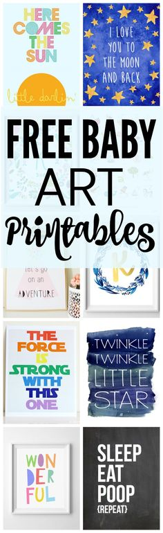 17 Free Baby Nursery Printables via Pretty My Party
