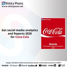 "COCACOLA social media analysis for 2020 Quarter one totally for FREE!    NOW you can manage all your social media accounts at once!  Sticky Posts System the most economical social media management tool all over the world now available in the Middle East & Africa!  Our Unique Services:-  - Posts Generator "" Design all your social media posts automatic""  - Automatic Scheduling "" Save time & Schedule all your social media activities in less than 10 min""  - Automatic Publishing "" You only need… Social Media Analysis, Facebook O, Social Media Management Tools, Social Media Branding, East Africa, Middle East, Coca Cola, Schedule, Accounting"
