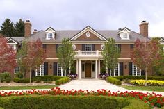 The house features some lovely landscaping out front. Peyton Manning