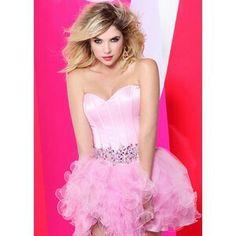 Faviana 7189 – Strapless Barbie Pink Short Prom Dress Online