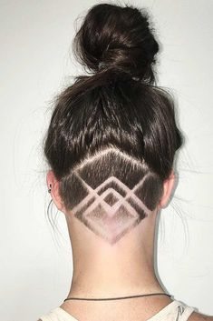 18 Awesome Ideas with an Undercut for Daring Women ★ Cute Colorful Undercut Ideas with Hair Tattoos Picture 4 ★ See more: http://glaminati.com/undercut-hairstyle-women/ #undercut #undercuthairstyle