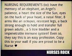 Couldn't have chosen a better career I'm in love with nursing :)