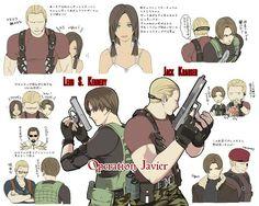 Resident Evil The Darkside Chronicles // Biohazard // Leon S. Kennedy & Jack Krauser