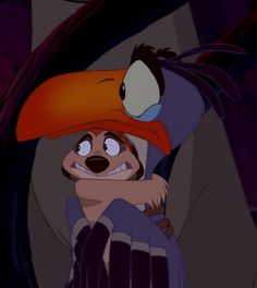 Timon and Zazu (The Lion King) literally my favorite part of the movie when these two interact! I think it's so friken cute! Disney Pixar, Walt Disney Animation, Disney Films, Animation Film, Disney And Dreamworks, Lion King 3, The Lion King 1994, Lion King Movie, Disney Lion King