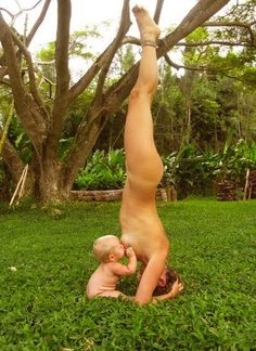 Naked Breastfeeding Yoga Mom Denies Staging Viral Photo