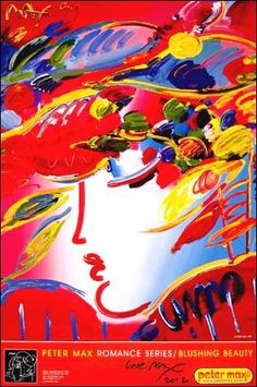 Blushing Beauty © Peter Max - 1999  *