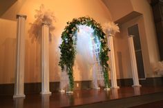 wedding columns and arches | wedding reception head table uaw hall in spring hill tn wedding party ...