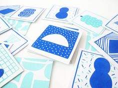 Memory game ! 20 cards 10x10cm screenprinted on white cardboard + fabric bag 20x20 cm also screenprinted