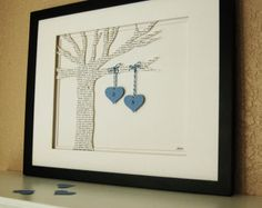"""Celebrate your wedding vows or first dance song with a unique wedding gift idea in the form of a paper notion, framed and matted. Home of the original *Wedding Lyric Tree* anniversary gift. As unique pieces, no two are identical. Domestic Notions creates art pieces to celebrate your favorite memory. Whether it is your Wedding """"First Dance"""" lyrics, the background music from your first kiss, your Prom theme song, a cherished poem, or a memorial to a lost loved one, Domestic Notions can help…"""