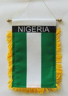 gold fringed flags