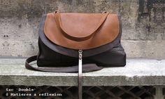LEATHER BAG // Sac Double (Fauve/Brown leather) @ Matières à réflexion