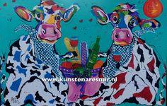 Koeienschilderijen Mirthe Kolkman  Kunstenares Mir