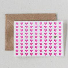 Shop | Hearts & Hearts (Set of 6) | Inclosed Studio | Letterpress Invitation Design and Printing