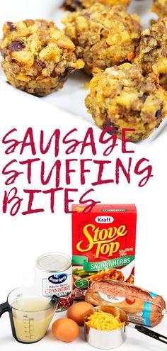 Sausage Stuffing Bites