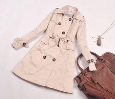 korean wholesale windbreaker jacket office lady y460-2 khaki