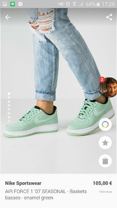 999a26c69f9 Dames Nike Sportswear AIR FORCE 1 '07 SEASONAL - Sneakers laag - enamel  green Lichtgroen