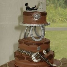 Couples who plan to hold an outdoor nuptial, relish farm life or even easy love western decoration might select country themed wedding cakes for their special da #wedding cake #http://bridalscake.com