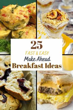 Want a healthy breakfast but don't have the time? Check out these 25 Fast Group Breakfast, Breakfast Wraps, Breakfast On The Go, Make Ahead Breakfast, Breakfast Ideas, Breakfast Recipes, Best Dessert Recipes, Fun Desserts, Real Food Recipes