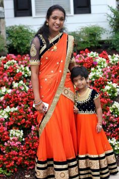 Love This Matching Mother / Daughter Lengha Outfit. So Adorable! | Wedding | Pinterest | Mothers ...