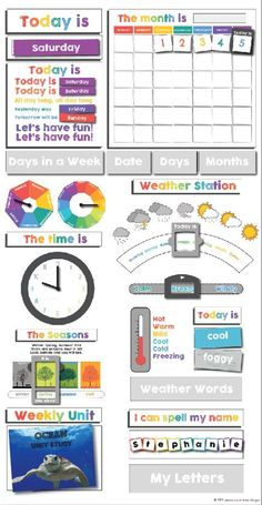 Preschool Boards, Preschool At Home, Preschool Spanish, Preschool Crafts, Preschool Calendar, Toddler Calendar, Classroom Calendar, Kids Calendar, Classroom Themes
