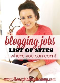 "Making money from home is no longer a ""rare"" thing. Many are working at home in full time positions, freelancing and running their own businesses. Freelance writing is very popular - here is a list at MoneyMakingMommy.com of places you can earn blogging a"