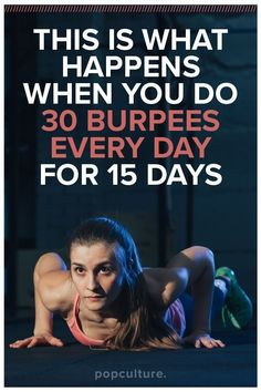 Take the Burpee 15 Day Challenge! Thinking about skipping those total body powerhouses = burpees? Think again, there are amazing things that happen when you do 30 burpees every day for 15 days. Fitness Herausforderungen, Physical Fitness, Fitness Motivation, Rogue Fitness, Motivation Quotes, Fitness Goals, Burpees, Cardio Challenge, 15 Day Challenge
