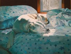 Artist Gloria Najecki painted this painting for an auction to raise money for a service dog for a young boy. #dogs #painting #dogoodnh